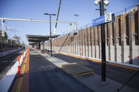 McKinnon Station built after five week line closure