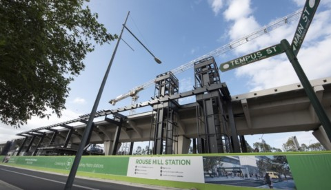 Sydney Metro skytrain stations take shape