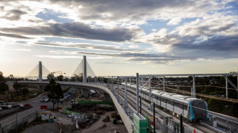 Sydney's metro train making its first move