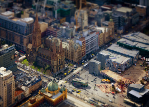 Federation Square getting prepared for works