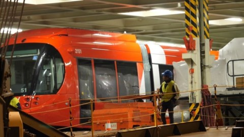 Port of Newcastle receives first light rail carriage