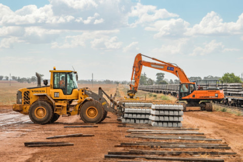 Major steel delivery marks ramp up on Inland Rail