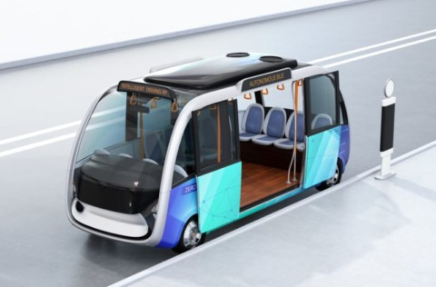 Driverless vehicle trialled with public
