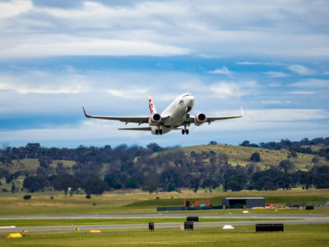 Canberra Airport's new taxiway extension