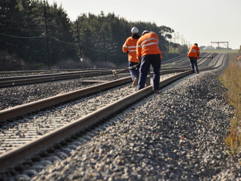 rail stripping trackworks rail springer safety John Holland