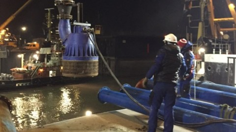Case study: rental pumps in action at the Kaiserschleuse Lock in Bremerhaven, Germany