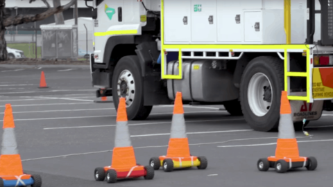 Robotic traffic cones to improve safety for road workers