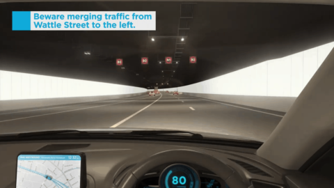 Virtual trips of the new M4 Tunnels available to drivers