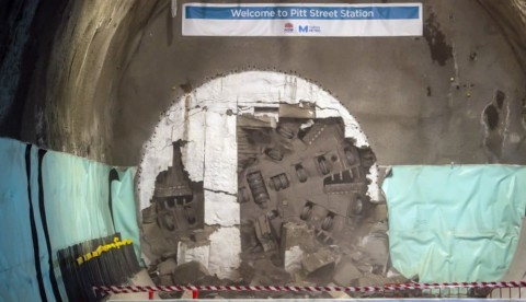 Sydney Metro breaks through under city centre