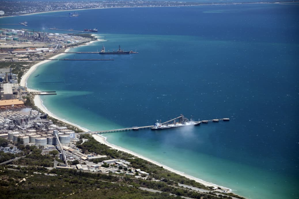 Alcoa aerial Westport. Credit Fremantle Ports