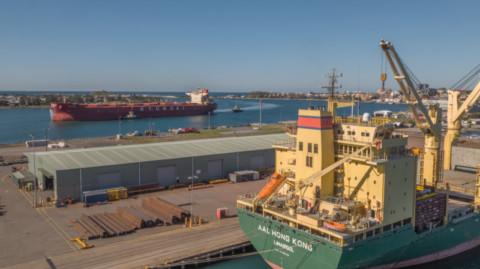 Port of Newcastle's superior cargo handling capability