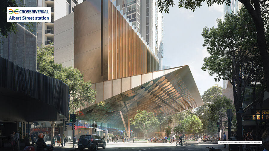 The new Albert Street station, in the heart of Brisbane's CBD, will be the busiest Cross River Rail station and handle 67,000 passengers each workday by 2036.