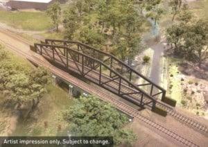 Eumemmerring Creek bridge artist impression