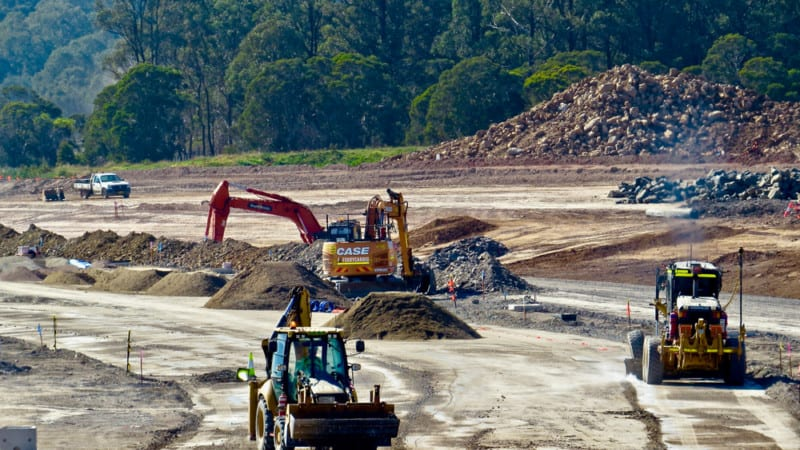 Western Sydney Airport construction