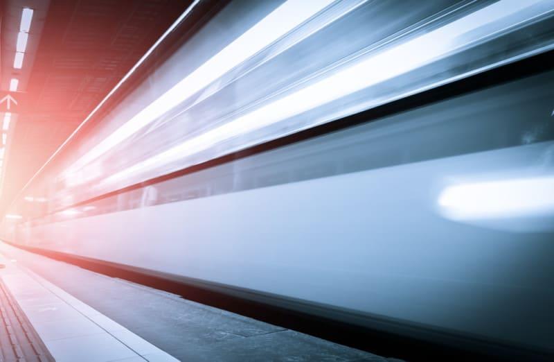Fast train blur