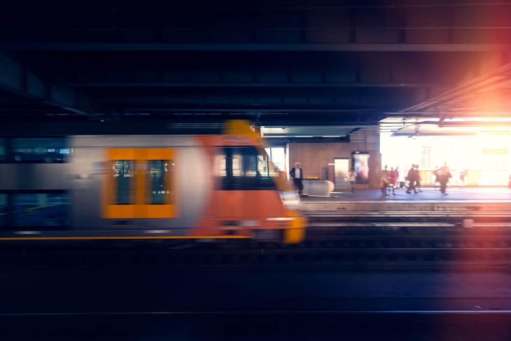 Blur Sydney train