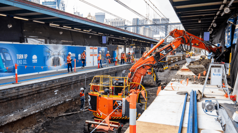 In pictures: construction progresses on new Sydney Metro Central Station