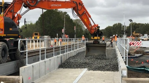 North East Rail Line upgrade ploughs ahead