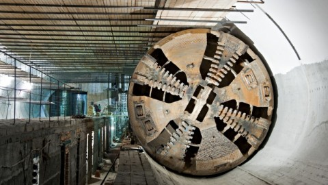 All four Metro Tunnel boring machines in the ground