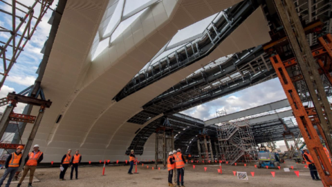 First look at Sydney Central Station's new roof