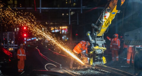 Major rail line relocated for new Sydney Metro
