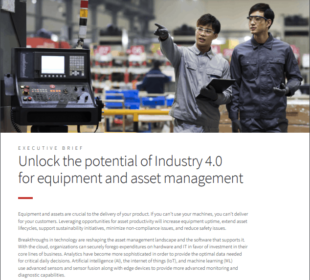 The potential of Industry 4.0 in asset management