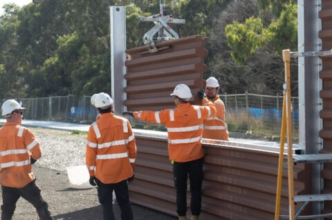 VIC recycled plastic noise walls specification approved